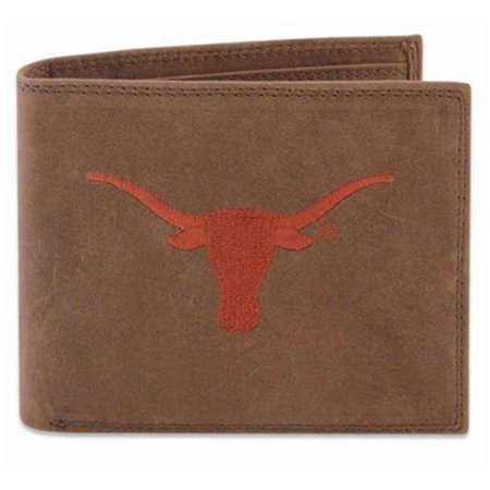 ZeppelinProducts UTX-IWE1-CRZH-LBR Texas Passcase Embroidered Leather Wallet - image 1 of 1