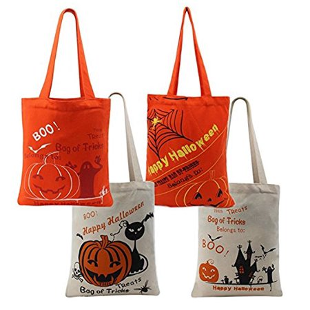 TONOS Halloween Money Sign Candy Bag Sack with Dollar Mark, Perfect for Kids, Teens Trick and Treat. (Assorted 4 Pc-2Red and 2Beige)](Vegan Halloween Treats For Kids)