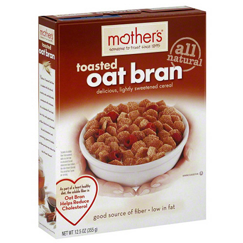 Mother's Toasted Oat Bran Cereal, 12.5 oz, (Pack of 6)