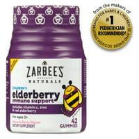 Zarbee's Naturals Children's Elderberry Immune Support* Gummies, With Vitamin C, Zinc and Real Elderberry, Natural Berry Flavor, 42 Gummies (1 Bottle)