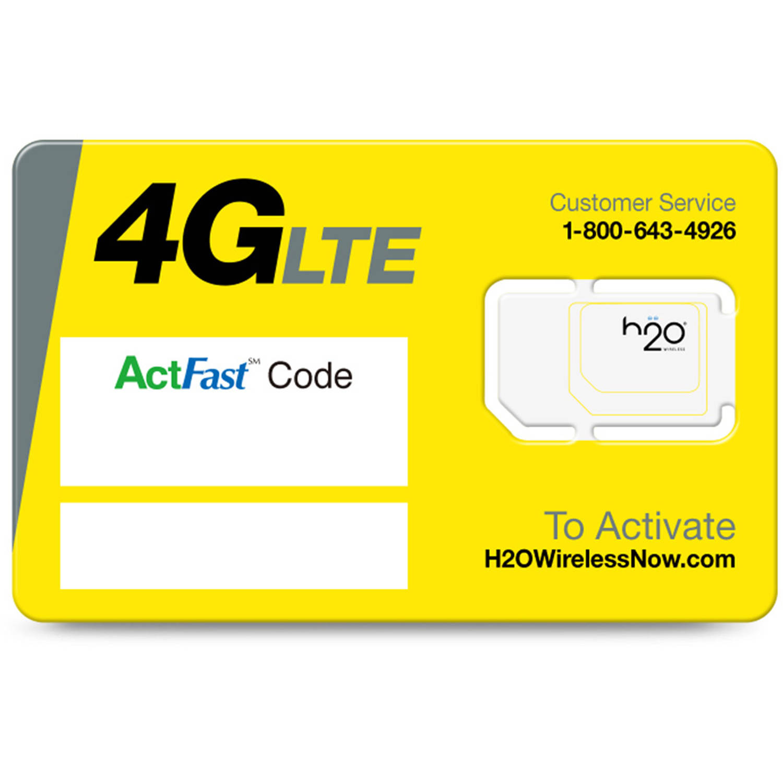 h2o Smart SIM Starter Kit 3-in-1 GSM SIM Card - Best SIM Cards