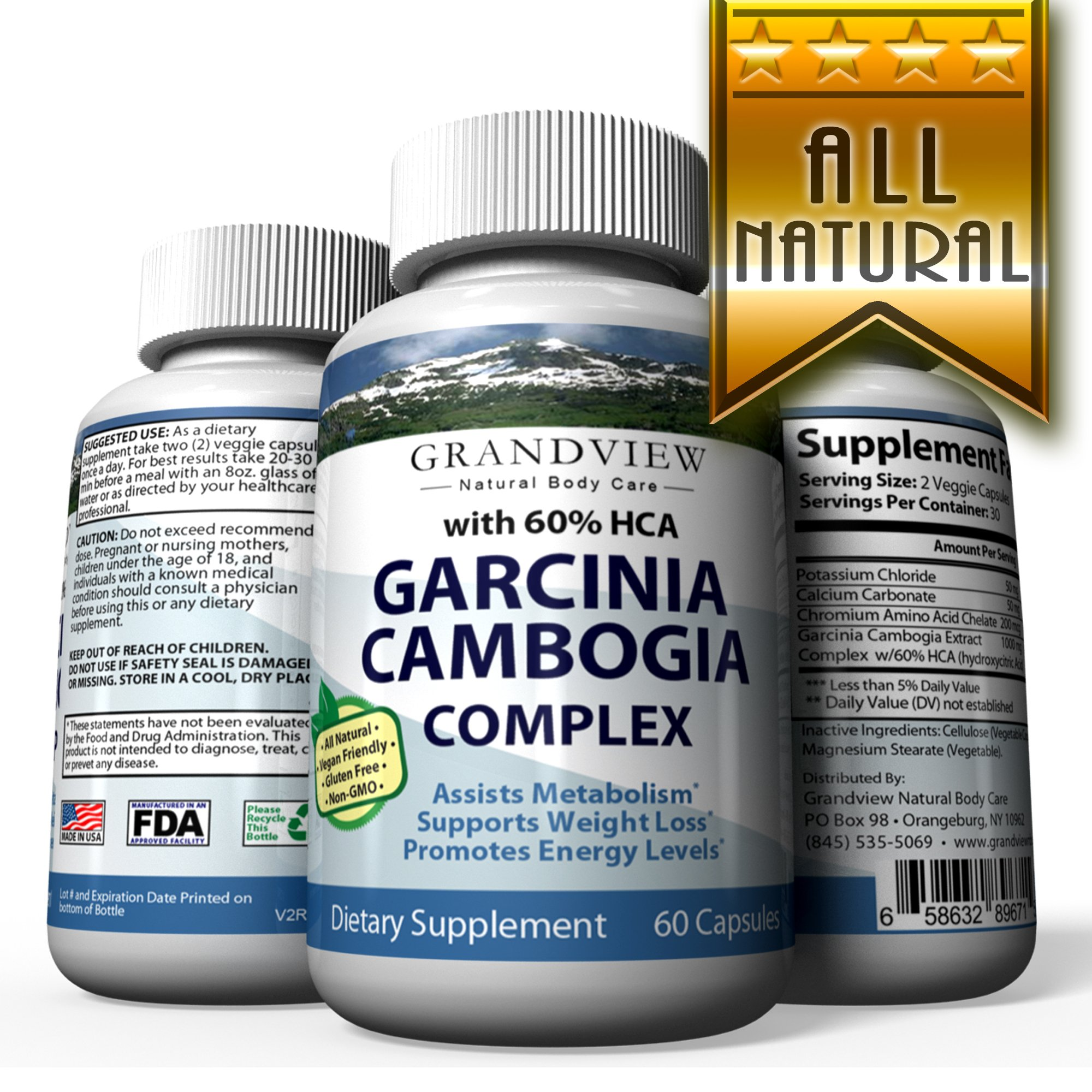 Garcinia Cambogia Extract With 60 Hca Natural Appetite