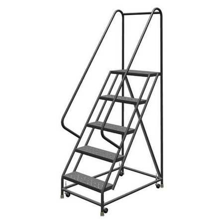 "Tri-Arc 5 Steps, 50"" H Steel Rolling Ladder, 450 lb. Load Capacity, KDSR105246"
