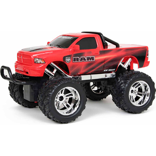 New Bright 1:16 Full-Function Radio-Controlled Ram, Red