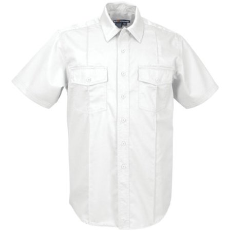 5.11 Tactical Men's Station Non-NFPA Class A Short Sleeve Polo, 100% Cotton Twill, Style 46122, White, Large 5.11 Tactical Station