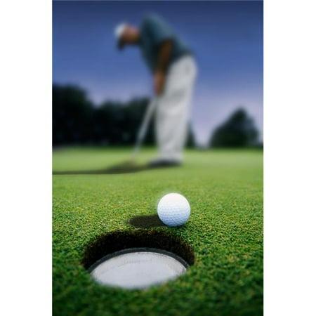 Posterazzi DPI18643LARGE Golf Ball Near Cup Poster Print, 22 x 34 - image 1 de 1