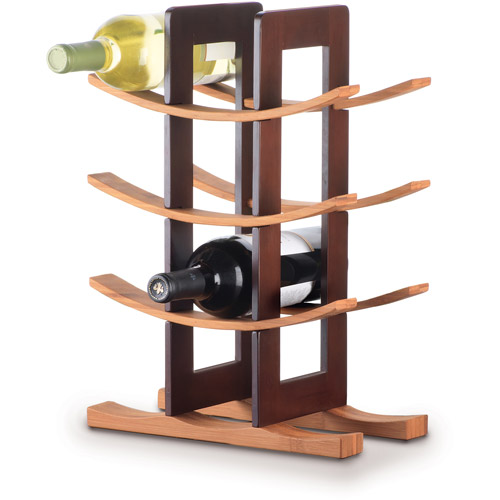 Click here to buy Anchor Hocking Bamboo Wine Rack by Anchor Hocking.