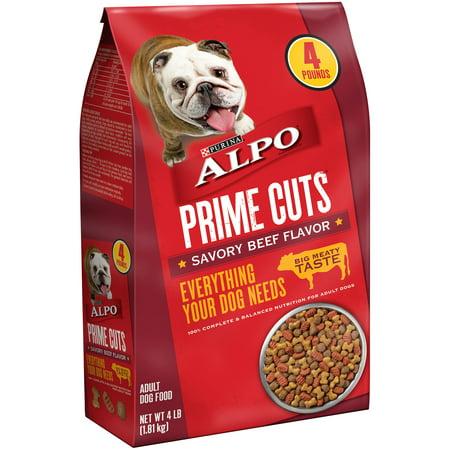 Purina Alpo Prime Cuts Savory Beef Flavor Dog Food  4 Lb