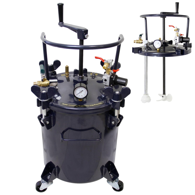 5 Gallon 20l PRESSURE FEED PAINT POT TANK Spray Gun Sprayer Regulator Agitator