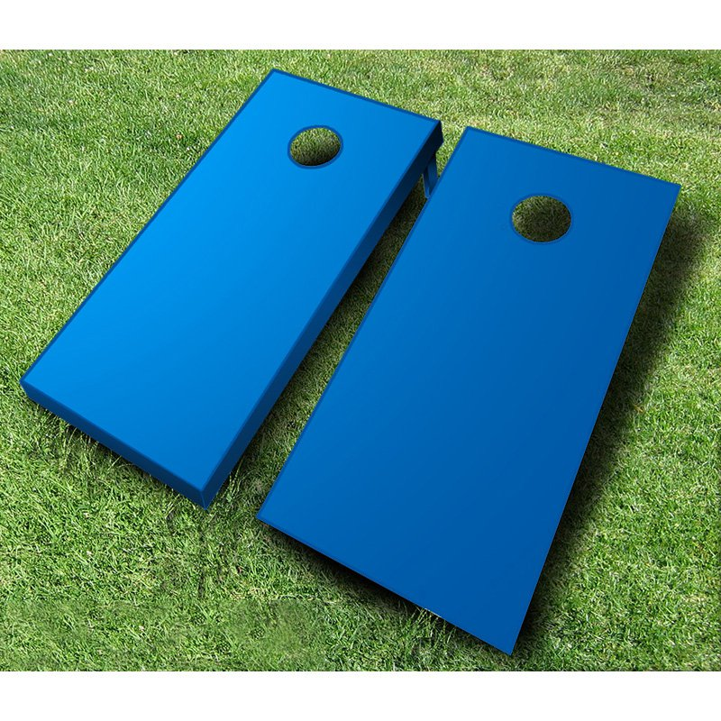 Painted Tournament Wooden Cornhole Bean Bag Toss Set - Royal Blue - Black & Purple