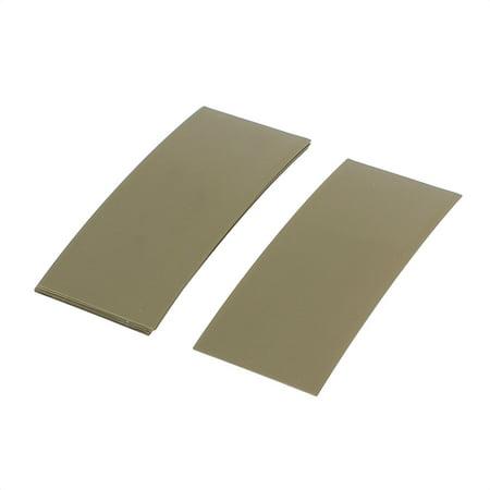10pcs 72mmx18.5mm PVC Heat Shrink Tubing ArmyGreen f 1x18650 -