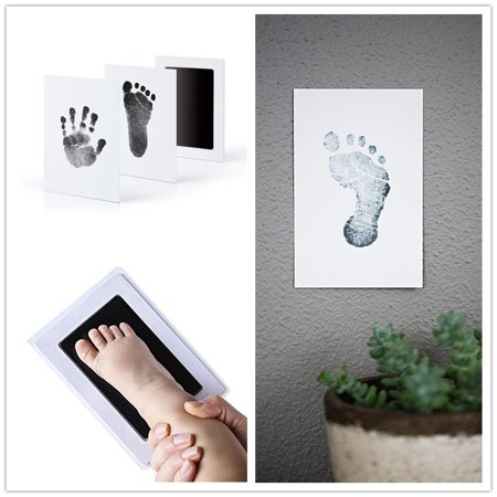 """New Inkless Safe """" Clean-Touch"""" Handprint and Footprint Ink Pads Blue for Baby"""