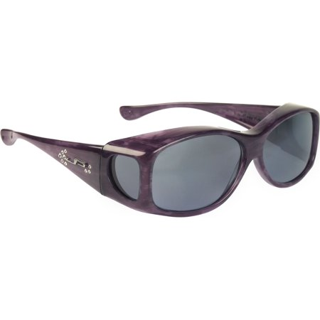 Fit Overs Sunglasses - The Glides Collection - Fits Over Circle - 128mm X 40mm - Purple Haze/polarized Gray (Casual Lifestyle Collection Sunglasses)
