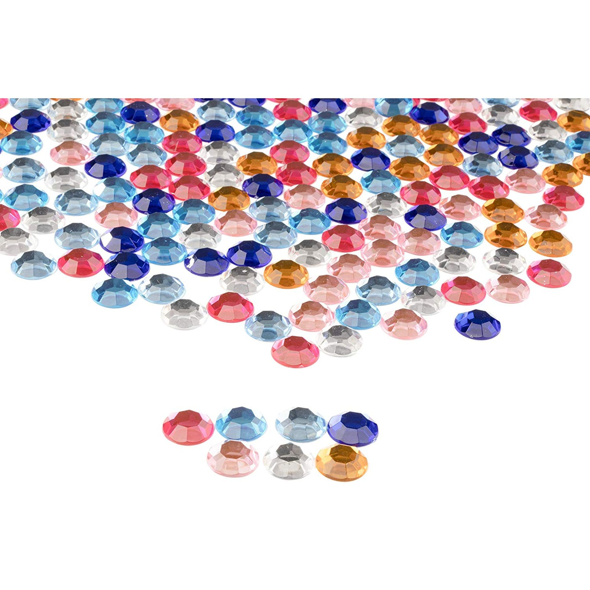 Mixed Acrylic Jewels Gemstones Card Making Crafts Embellishments Large Bag