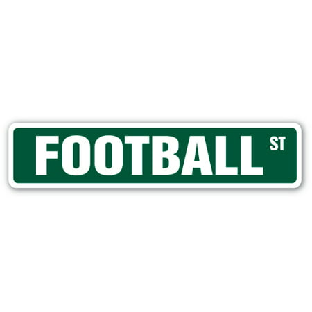 FOOTBALL Street Sign fan player coach team college | Indoor/Outdoor |  24