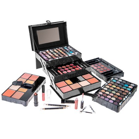 SHANY All In One Makeup Kit (Eyeshadow, Blushes, Powder, Lipstick & More) Holiday Exclusive - BLACK - Red Face Makeup Halloween