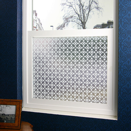 Stick Pretty Fleur Privacy Window Film