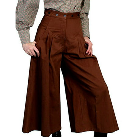 Scully Western Pants Womens Durable Twill Pleated Brushed Cotton