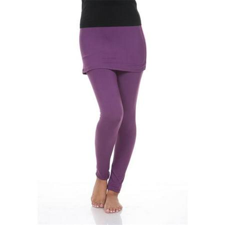 Skirts Leggings (White Mark Skirted Cotton Leggings, 202-Purple -)