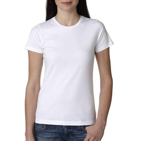 Antiqued Ivory Cream - Branded Next Level Ladies Boyfriend T-Shirt - WHITE - L (Instant Saving 5% & more on min 2)