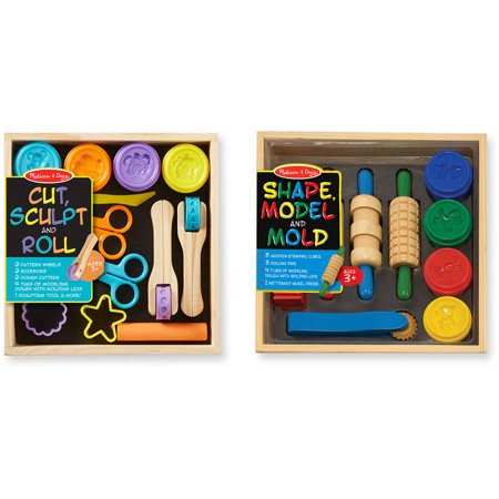 Melissa & Doug Clay Play Activity Set - With Sculpting Tools and 8 Tubs of Modeling - Melissa & Doug Clay