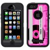 Skin Decal for OtterBox Defender Apple iPhone SE Case - Retro Clear Cassette Tape Pink OtterBox Defender Apple iPhone SE Skin Decal Retro Clear Cassette Tape Pink