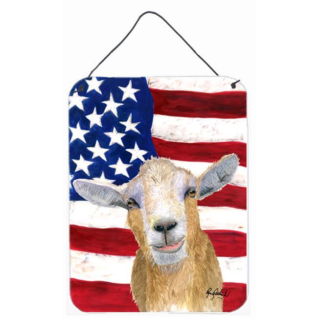 Carolines Treasures RDR3028DS1216 8 x 12 In. USA American Goat Aluminium Metal Wall or Door Hanging Prints - image 1 of 1