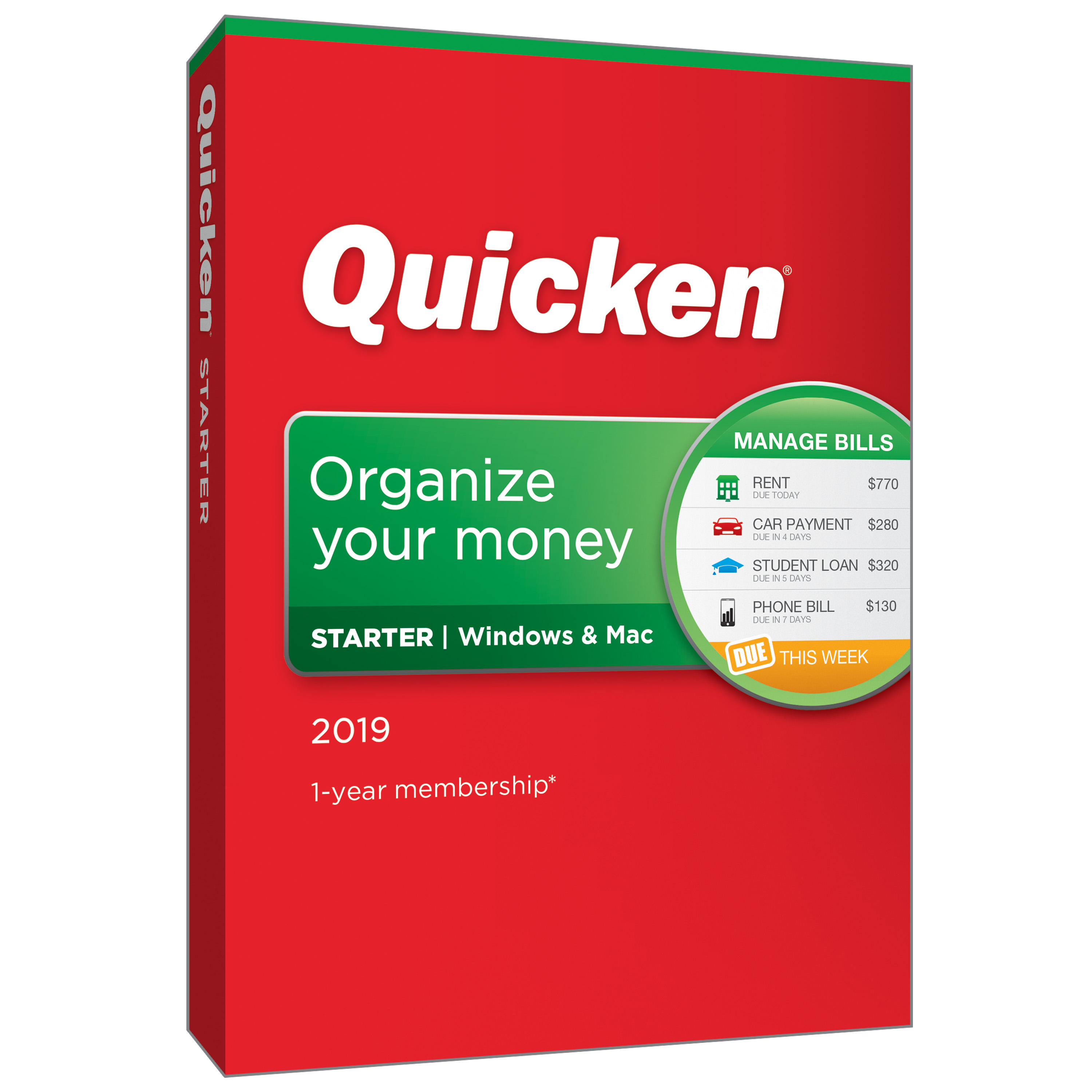 Quicken Starter 2019 1User 1Year