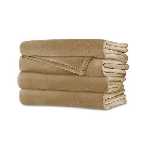 Sunbeam RoyalMink Electric Heated Blanket Queen Size Sand Tan ...
