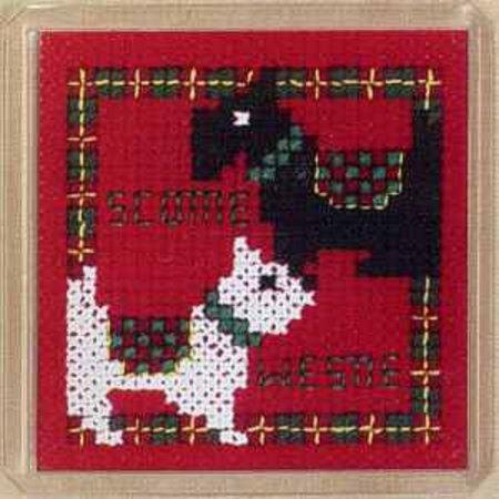 - Textile Heritage Magnet Cross Stitch Kit - Scottie & Westie