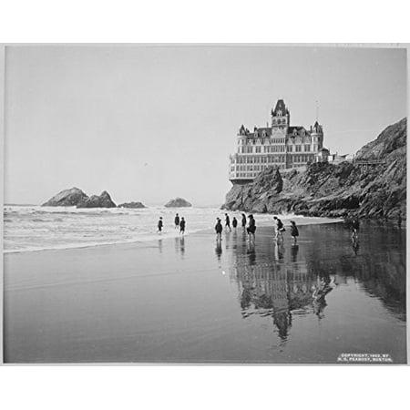 Lone Star Art Cliff House and Seal Rocks San Francisco California Vintage Photo - 11x14 Unframed Print - Perfect Vintage Beach House Decor