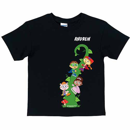 Personalized Super Why! Reading Adventure Toddler T-Shirt, Black