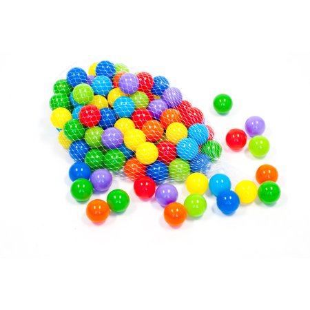 eWonderWorld 100 Non-Toxic Wonder Ball Pit Play Balls Phthalate Lead BPA Free Crush-Proof Rainbow with Net Tote for - Wonder Balls