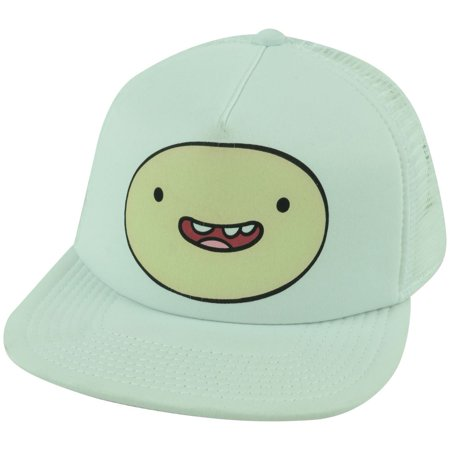 Cartoon Network Adventure Time Finn White Trucker Mesh Snapback Flat Bill