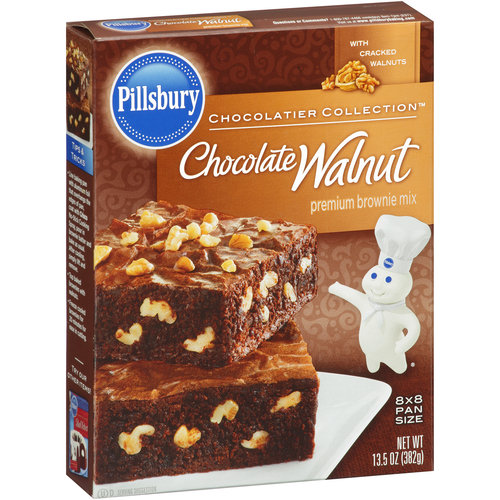 Pillsbury Premium Chocolate Walnut Brownie Mix, 13.5 oz