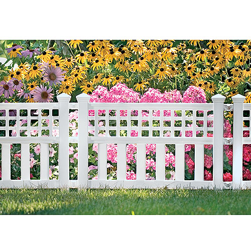Suncast Grand View Fence, 3 Pack, White