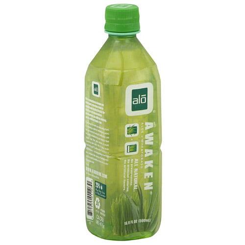 Alo Aloe & Wheatgrass Juice, 16.9 Fl Oz, 12 Ct