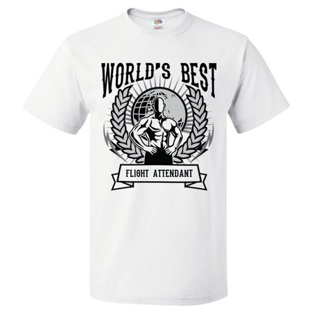 Wedding Attendant Gifts (World's Best Flight Attendant T Shirt Gift for Flight Attendant Shirt)