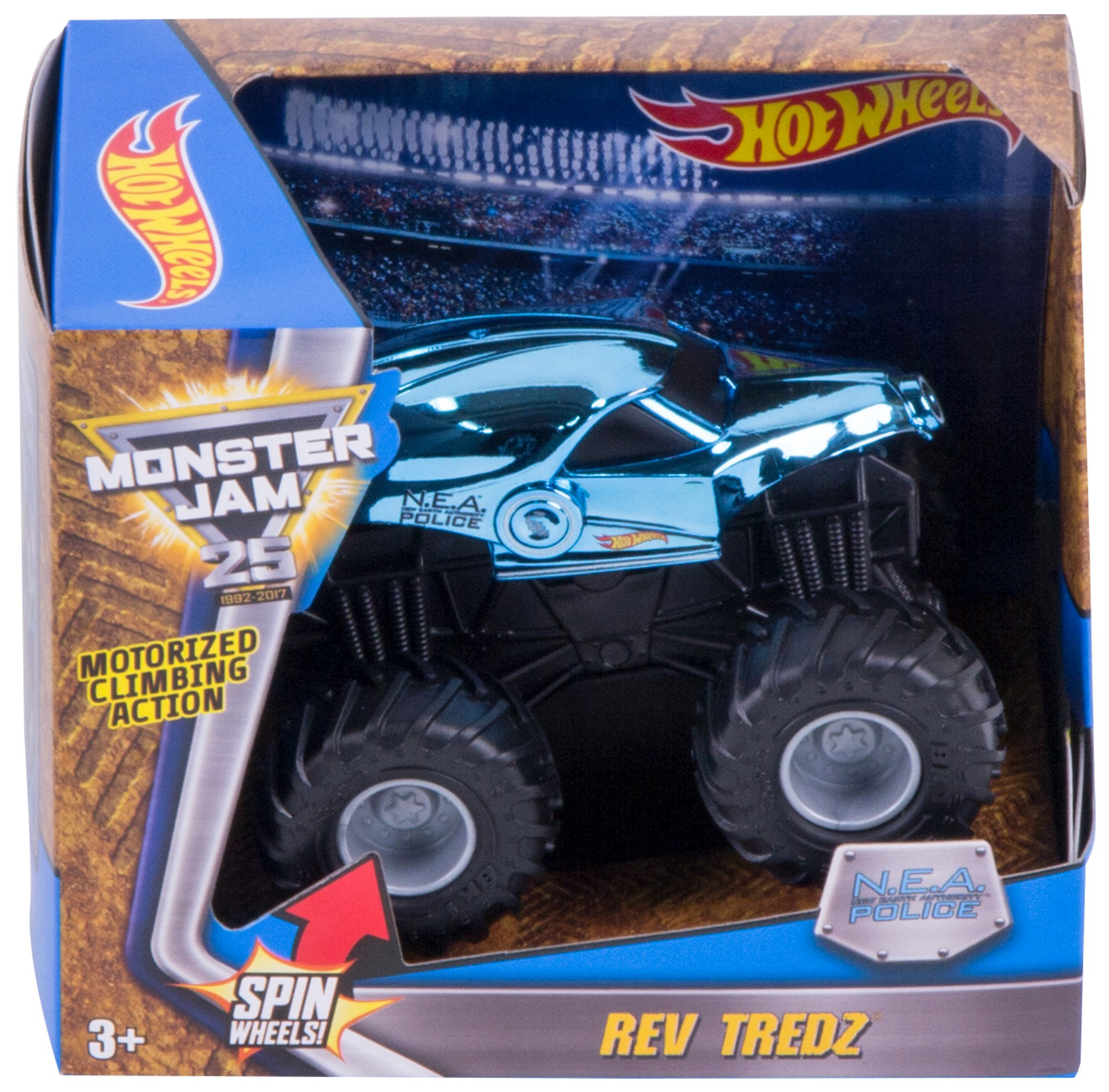 Hot Wheels Monster Jam Rev Tredz New Earth Authority Vehicle by Mattel