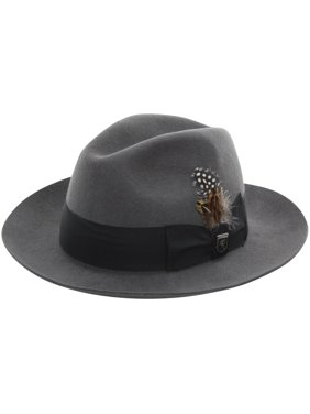 5004f58a9970f6 Product Image Stacy Adams Men's Cannery Row Grey Wool Pinch Front Fedora Hat