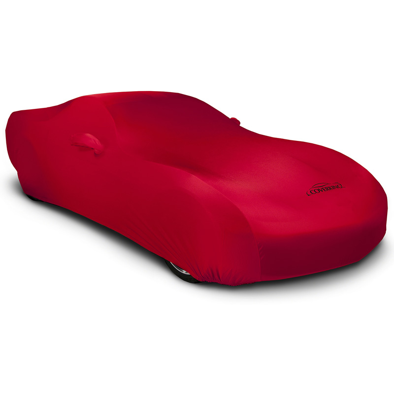 CUSTOM VEHICLE COVER SATIN STRETCH RED CLASS 3 FOR MERCEDES
