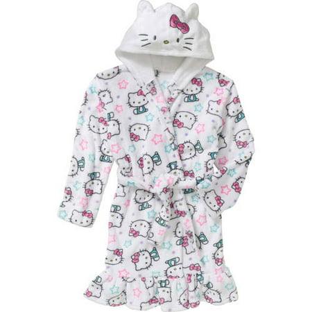 komar kids big girls 39 hello kitty hooded fleece robe. Black Bedroom Furniture Sets. Home Design Ideas