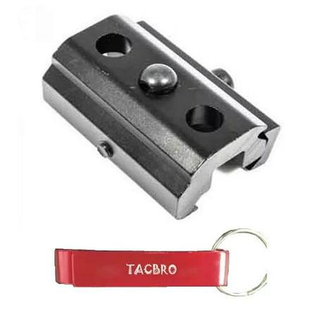 TACBRO Harris Bipod Adapter - Picatinny/Weaver - Style 2 with One Free TACBRO Aluminum Opener(Randomly Selected
