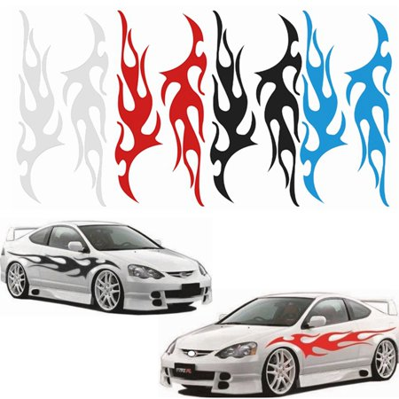 """12"""" x 48"""" Car Autos Truck Racing Body Flame Graphic Decal Flaming Vinyl Stickers Decor"""
