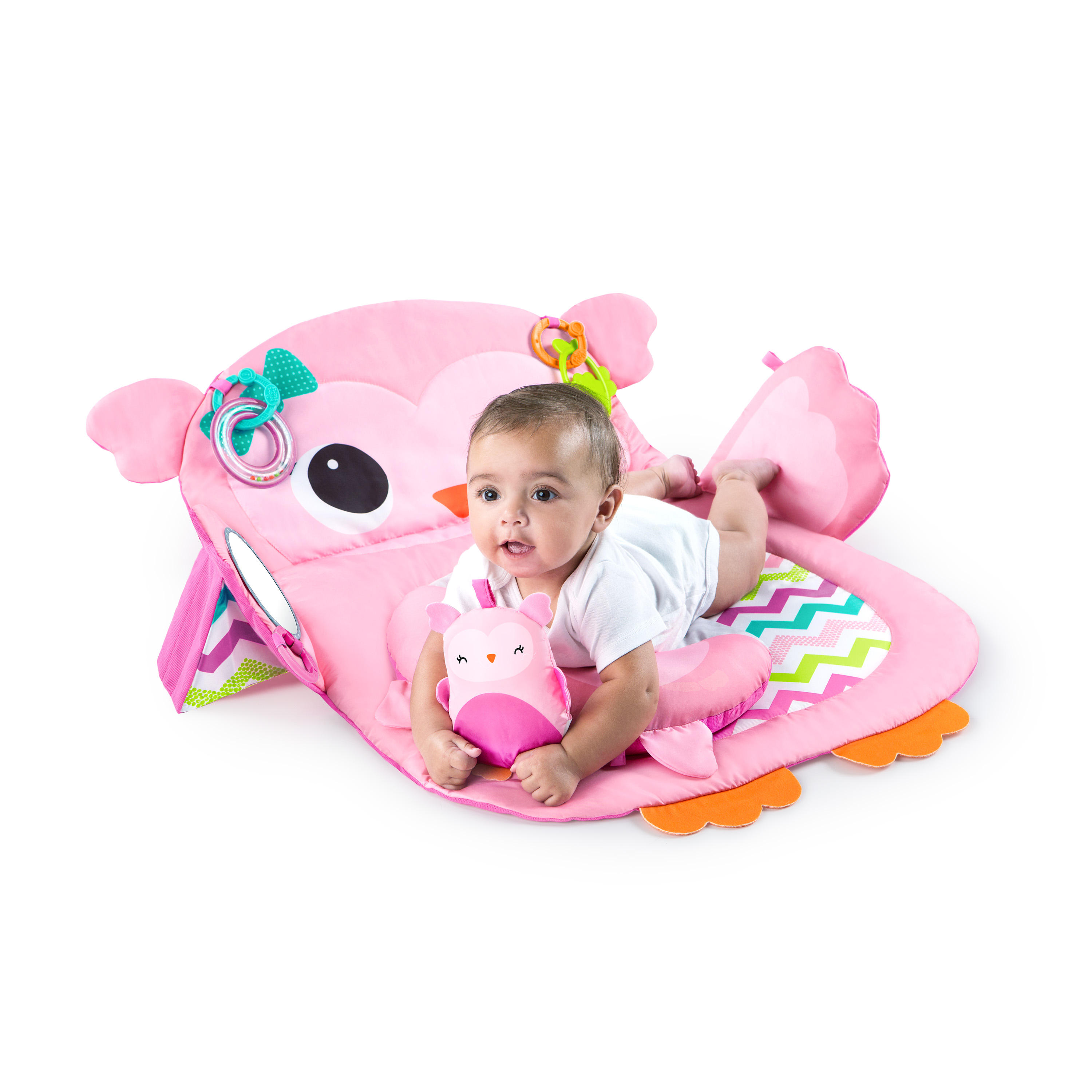 Bright Starts Tummy Time Prop & Play- Owl