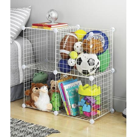 Whitmor Storage Cubes White Set of 4 - Walmart.com