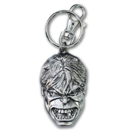 Pewter Tag - The Incredible Hulk Pewter Keychain, Pewter Key Chain By Marvel
