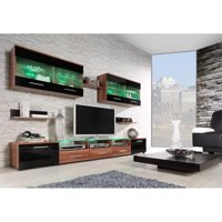 "CAMA I 8 Piece entertainment center with LED for up to 8o"" TV's"