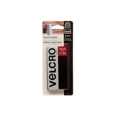 - VELCRO® Brand Extreme Outdoor 4in x 2in Strips, Black - 2 ct.