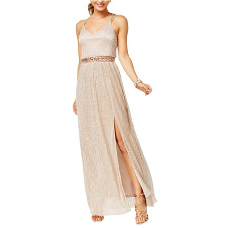 (BCX Womens Illusion A-line Gown Dress)